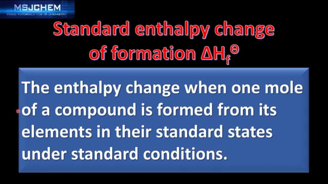 worksheet Heat Of Formation Worksheet 5 1 standard enthalpy change of formation youtube