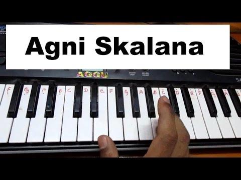 Chatrapathi (Telugu) - Agni Skalana full music on keyboard or piano