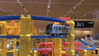 プラレール S-TRAIN 走行 DNPプラザ・アニメと鉄道展の中のレイアウト