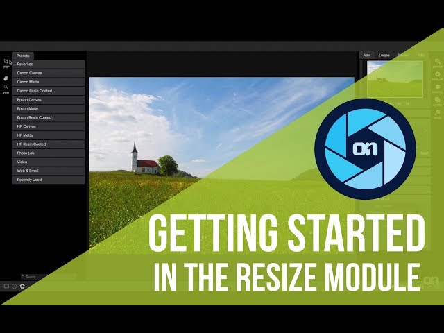 Getting Started in the Resize Module – ON1 Photo RAW
