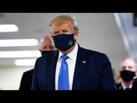 ترامب يضع قناعاً للمرّة الأولى منذ بدء أزمة فيروس كورونا…  - 07:57-2020 / 7 / 12