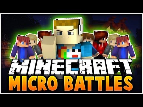 Minecraft: MICRO BATTLES (Fun PVP MiniGame) - TOO MANY ENEMIES