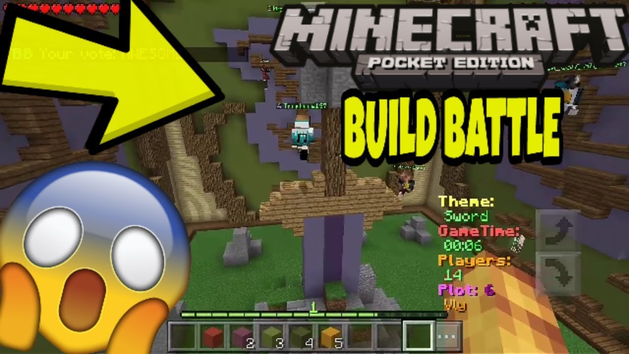 😱THE MOST AWESOME SWORD BUILD!!!😱 || MCPE BUILD BATTLE!!!