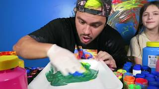 APRENDA AS CORES - LEARN COLORS FOR CHILDREN BODY PAINT FINGER FAMILY SONG