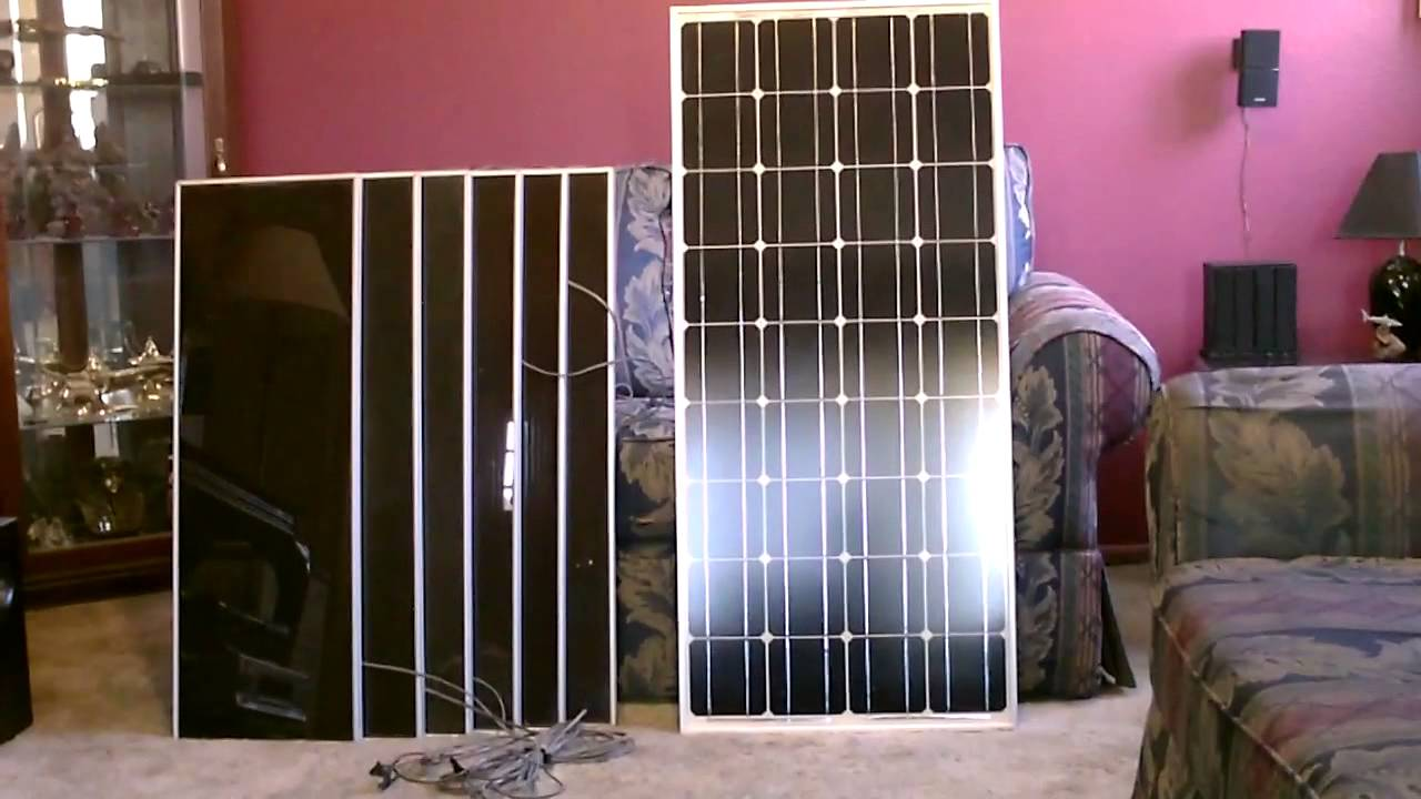 Solar Panel Comparison 100w Monocrystalline Vs 45w Harbor Freight Wiring Diagram Set With Battery Info Youtube