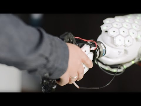 Sensitive synthetic skin makes for hug-safe humanoid robot