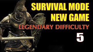 Skyrim SURVIVAL MODE Walkthrough Legendary, New Game Part 5 - Bound Bow Special Op!