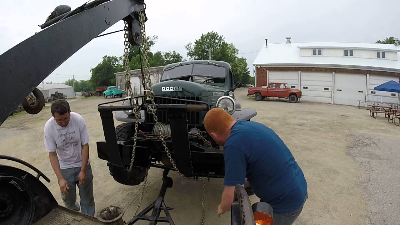 Dodge Power Wagon Wrecker Fairfield Iowa Youtube 1954 Tow Truck