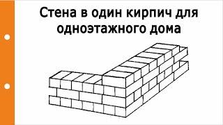 Стена в один кирпич для одноэтажного дома, плюсы и минусы?(Стена в один кирпич для одноэтажного дома, плюсы и минусы? Блог ведет профессиональный Инженер-строитель..., 2016-09-01T17:00:19.000Z)