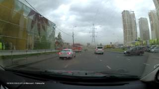 Heavy winds and sand storm in Moscow 29.05.2017