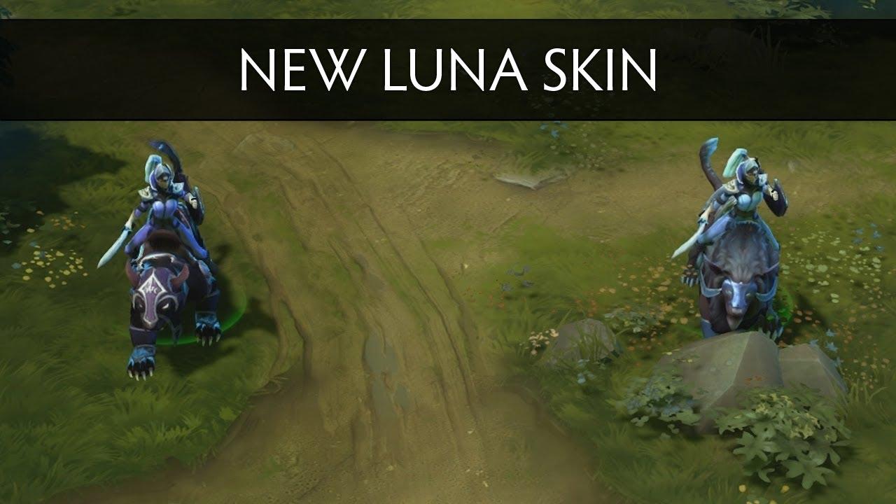 Dota 2 New Luna Mount Skin Side By Side Comparison YouTube