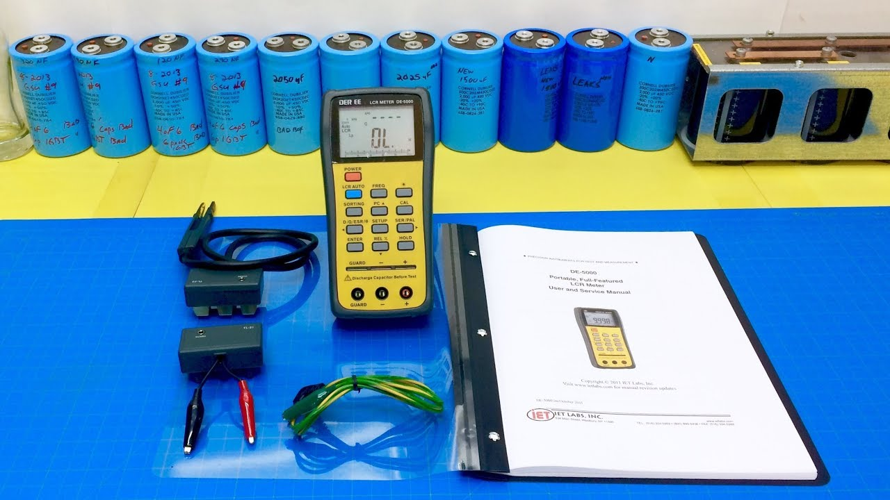 Unboxing The De 5000 Lcr Meter English Manual Esr Inductance Circuit Electronic Projects