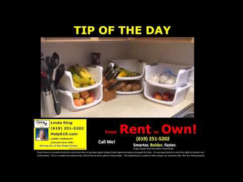 Get Organized! From Rent To Own San Diego!
