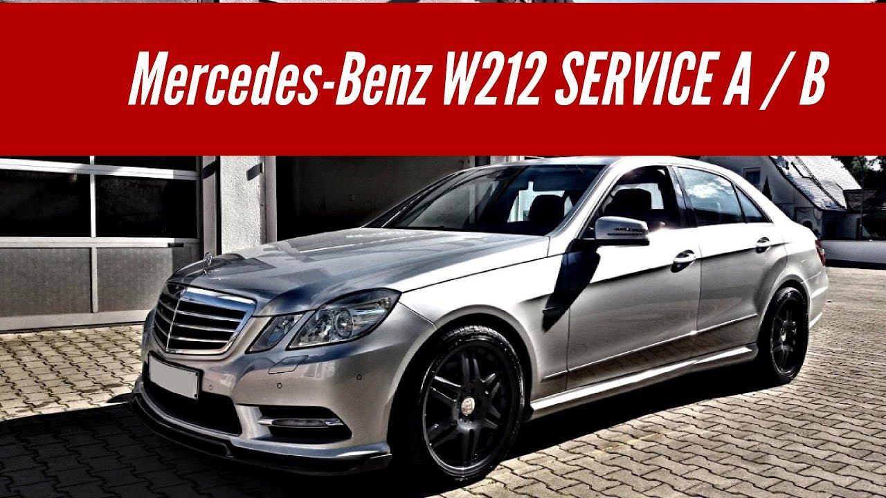 mercedes benz w212 service a und service b zur cksetzen