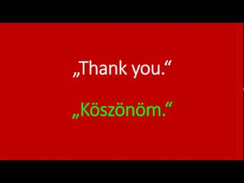 Thank you in hungarian youtube thank you in hungarian m4hsunfo