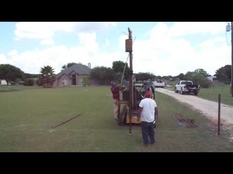 Pile Driving Fence Posts In Texas