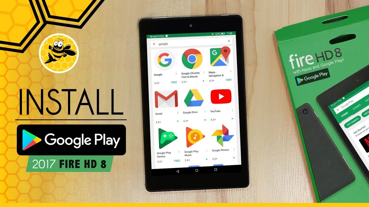 Install Google Play Store on Amazon Fire HD 8 with Alexa!  #Smartphone #Android
