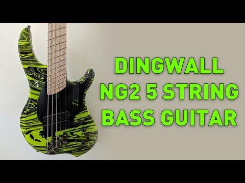 My Dream Bass Guitar! Dingwall NG2 5 String Bass in Ferrari Green Swirl