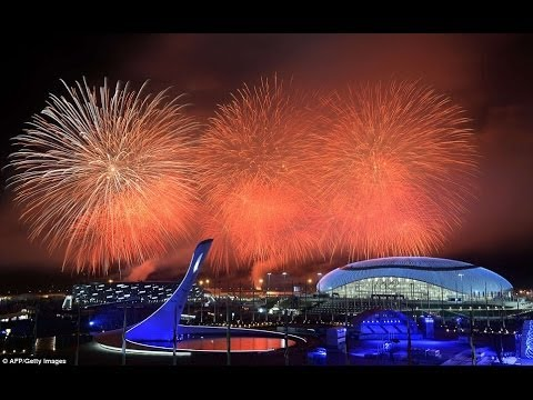 2014 Sochi Winter Olympics Closing Ceremony Spectacular Fireworks
