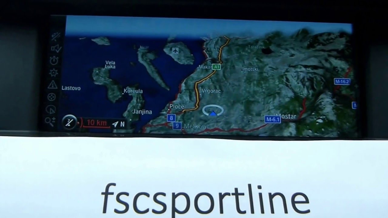 BMW FSC Code Navigation Map karte Update Ažuriranje Road Map Europe ...