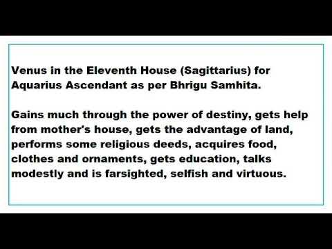 Venus in 11th house vedic astrology ephemeris