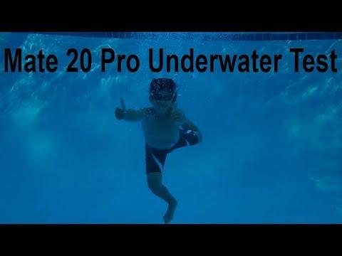 innovative design 9860d 8f960 @Huawei Mate 20 Pro Underwater Pool Testing The IP68 Certification  Waterproof??? (Underwater Mode)