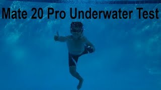@Huawei Mate 20 Pro Underwater Pool Testing The IP68 Certification Waterproof??? (Underwater Mode)