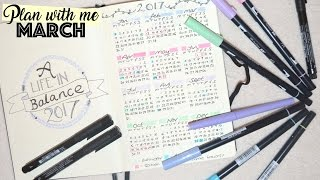 Plan with me - March | Simple Bullet Journal | Lifestuff | Fun | WavyKate