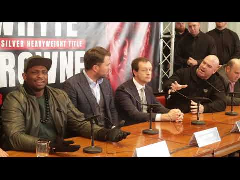 CONFRONTATION! - DILLIAN WHYTE BRANDS LUCAS BROWNE A RACIST OVER SOCIAL MEDIA COMMENTS MADE