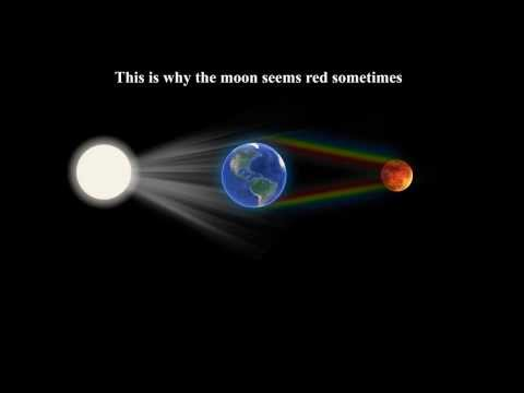 Why does the moon sometimes appear red?