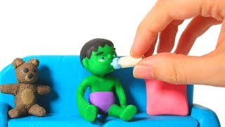SUPERHERO BABY & THE HELPING HAND ❤ Superhero Babies Play Doh Cartoons For Kids