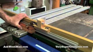 Sliding Table Design Update: - Aluminum Extrusions And Stops