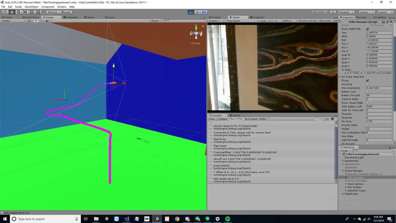 Unity Controller for Tello (Autopilot 2 0)   DJI Tello Drone