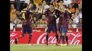 Cuplikan Gol Valencia vs Barcelona 2-3 ~ La Liga Spanyol 01/02/09-2013