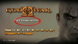 DEMO SUPER RARA DE GOD OF WAR 2 ENCONTRADA + CÓDIGOS SECRETOS E PODERES INÉDITOS DE KRATOS