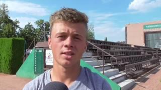 Zdeněk Děrkas po výhře ve 2. kole kvalifikace na turnaji Futures v Pardubicích