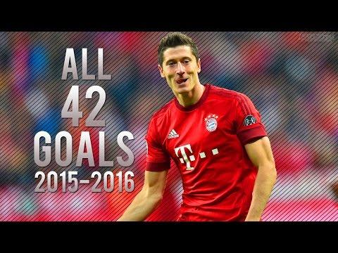 Robert Lewandowski ● ALL 42 GOALS 2015-2016 ● HD
