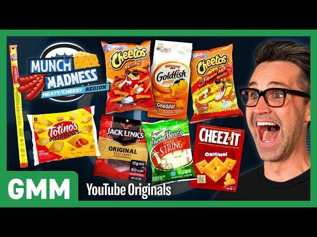 Munch Madness Taste Test: Meaty & Cheesy Snacks Ft. Harley Morenstein