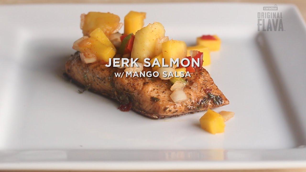 Jerk Salmon With Mango Salsa Made Easy!
