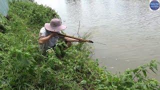Bắn cá bằng súng tự chế về nướng mọi/Shoot Fish