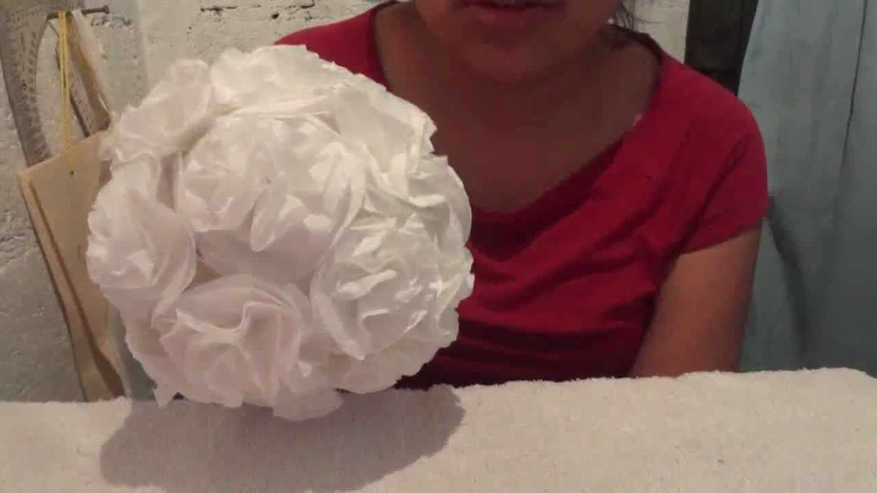 esferas con flores de papel video de ideas kenita youtube