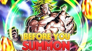Before You Summon NEW LR Transforming Broly on Global Dragon Ball Z Dokkan Battle