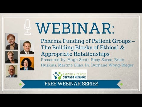 WEBINAR: Pharma Funding of Patient Groups