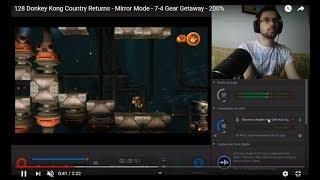 128 Donkey Kong Country Returns - Mirror Mode - 7-4 Gear Getaway - 200%