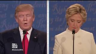 Clinton and Trump debate 2008 Supreme Court decision on guns