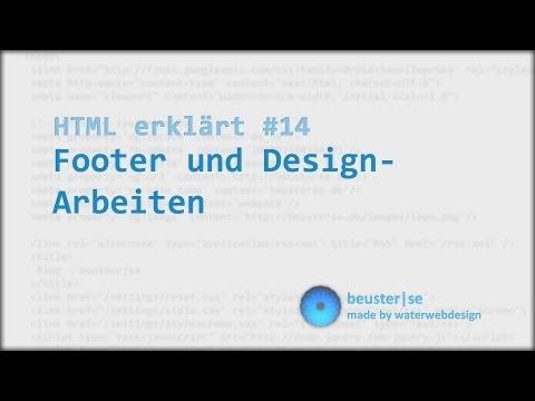 HTML Erklärt #14 Footer Und Design-Arbeiten