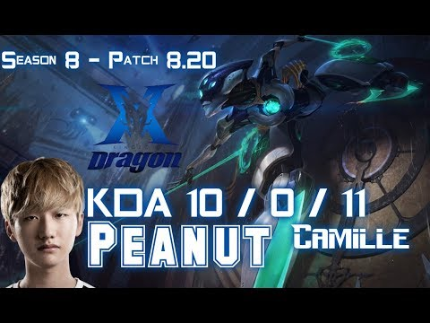 KZ Peanut CAMILLE vs SEJUANI Jungle - Patch 8.20 KR Ranked