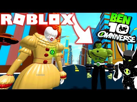 ROBLOX ! - BEN 10 NOVO ALIEN DO OMNITRIX FRANKSTEIN VS ALIEN X VS PENNYWISE - SIMULADOR DO BEN 10