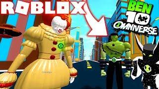 Roblox! -BEN 10 NUOVO ALIEN DA OMNITRIX FRANKSTEIN VS ALIEN X VS PENNYWISE-BEN 10 SIMULATOR