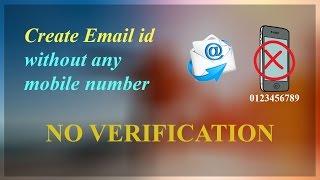 Erstellen Sie E-Mail-id, ohne Handy-Nummer | No verification
